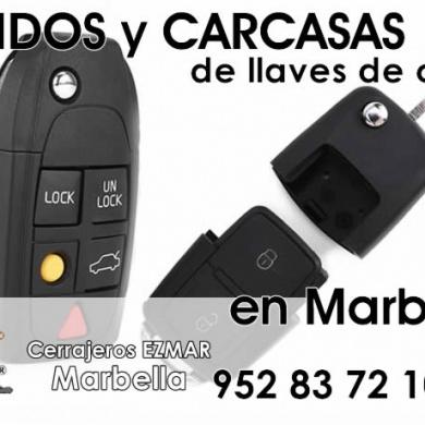 Mandos y carcasas para llaves de coche en Marbella